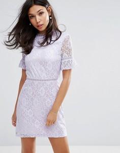 Кружевное платье Fashion Union - Фиолетовый
