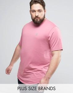 Длинная футболка с необработанным краем Le Breve PLUS - Розовый