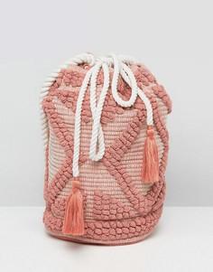 Розовая сумка на плечо с затягивающимся шнурком South Beach - Розовый