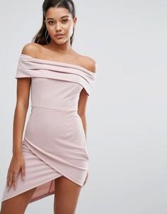 Облегающее платье с открытыми плечами Parallel Lines - Розовый