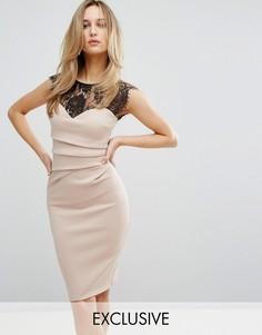 Облегающее платье Lipsy - Розовый