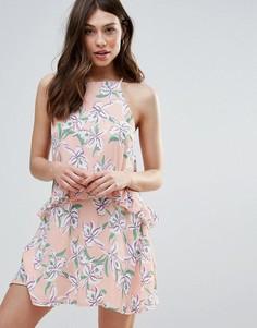 Платье с цветочным принтом Daisy Street - Оранжевый