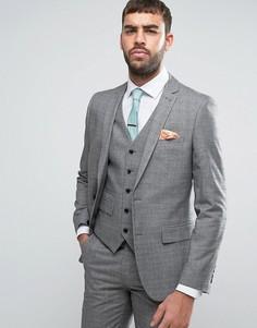 Серый костюм в клетку Harry Brown - Серый