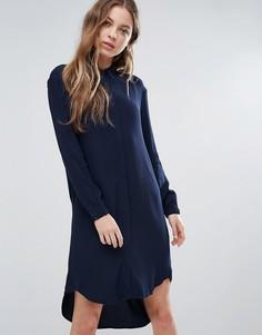 Платье-рубашка Selected - Темно-синий