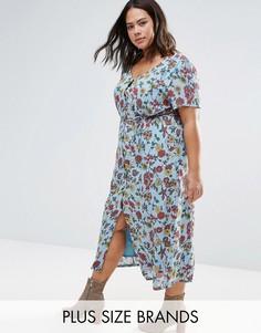Чайное платье на пуговицах Alice & You - Синий