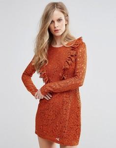 Кружевное платье Glamorous - Коричневый