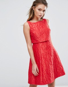 Фактурное жаккардовое платье Coast - Розовый