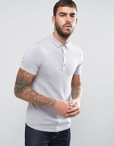 Трикотажное поло с короткими рукавами Burton Menswear - Серый