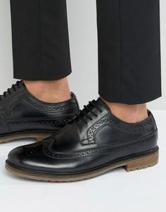 Черные кожаные броги Silver Street Fenchurch - Черный
