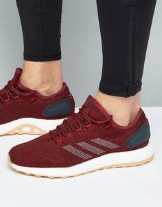 Бордовые кроссовки adidas Pure Boost BA8895 - Красный