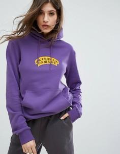 Oversize-худи с логотипом на груди Criminal Damage - Фиолетовый
