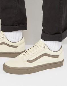 Бежевые кроссовки Vans Old Skool VA38G1MOL - Бежевый