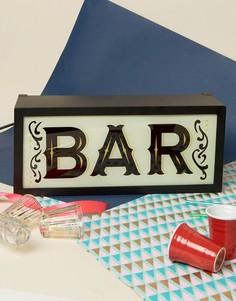 Светильник с надписью Bar Temerity Jones - Мульти