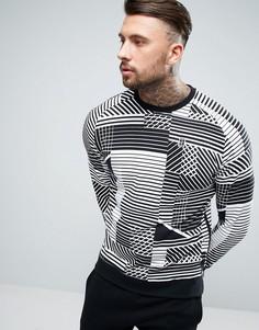 Белый свитшот с геометрическим принтом Nike 848632-100 - Белый