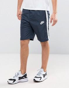 Синие шорты с полосами по бокам Nike 804318-475 - Синий