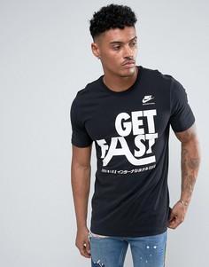 Черная футболка с крупным логотипом Nike 833248-010 - Черный