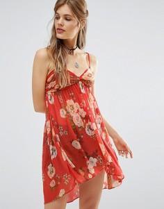 Блузка-бандо с принтом Free People Mirage - Красный