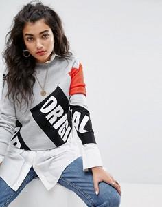 Укороченный свитшот с высоким воротом и сетчатыми рукавами adidas Originals Berlin - Серый
