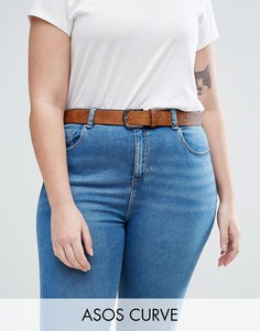 Светло-коричневый ремень под джинсы в винтажном стиле ASOS CURVE - Коричневый