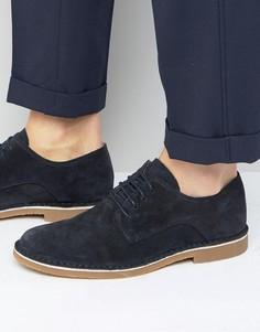 Замшевые туфли Selected Homme Royce - Темно-синий