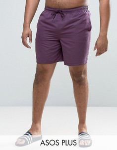 Фиолетовые шорты для плавания средней длины ASOS PLUS - Фиолетовый