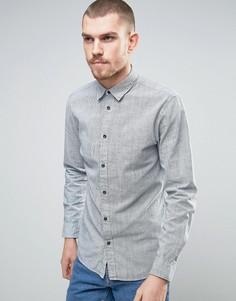 Приталенная хлопковая рубашка в клетку Selected Homme - Белый