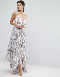 Платье макси с оборками Y.A.S Pallida - Мульти