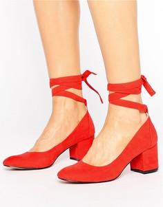 Туфли на каблуке с завязкой вокруг щиколотки London Rebel - Красный
