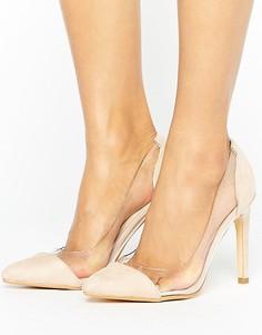 Туфли на каблуке с прозрачной вставкой Truffle Collection - Бежевый