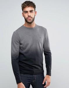 Джемпер с круглым вырезом и эффектом омбре Calvin Klein - Серый