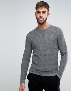 Фактурный джемпер с круглым вырезом Calvin Klein - Серый