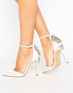 Туфли на высоком каблуке с декоративной отделкой ASOS PALAIS Bridal - Кремовый