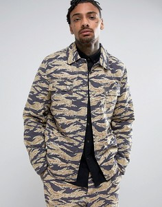 Камуфляжная куртка в стиле милитари ASOS - Зеленый