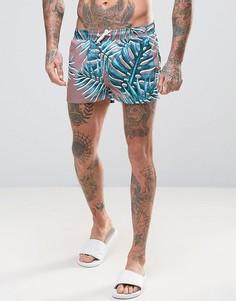 Очень короткие шорты для плавания с пальмами ASOS - Мульти
