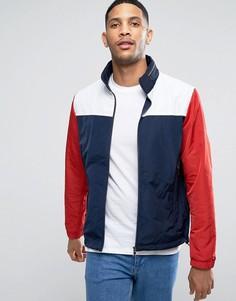 Нейлоновая куртка колор блок с убирающимся капюшоном Tommy Hilfiger - Темно-синий