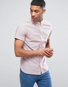 Узкая рубашка с короткими рукавами и принтом в мелкий горошек Tommy Hilfiger - Красный