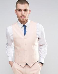 Узкий жилет из 55% льна Gianni Feraud Wedding - Розовый