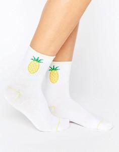 Носки с ананасами Monki - Желтый