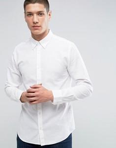 Льняная рубашка премиум узкого кроя Jack & Jones - Белый