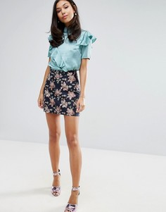 Жаккардовая мини-юбка Fashion Union - Мульти