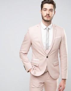 Супероблегающий пиджак с кантом Noose & Monkey - Розовый