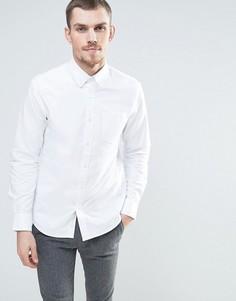 Оксфордская рубашка с воротником на пуговицах Celio - Белый