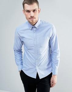 Оксфордская рубашка с воротником на пуговицах Celio - Синий