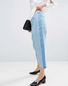 Свободные джинсы с контрастной полосой по бокам ASOS WHITE - Синий