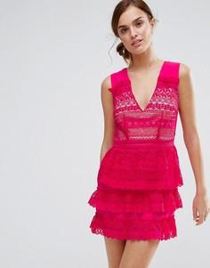 Платье с многоярусной юбкой Little White Lies Rory - Розовый