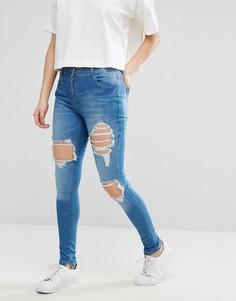 Рваные джинсы Parisian - Синий