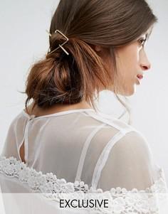 Заколка для волос в виде треугольника Orelia - Золотой