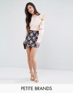 Мини-юбка с цветочным жаккардовым узором Fashion Union Petite - Мульти