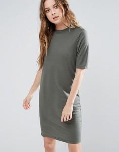 Платье с короткими рукавами Selected Metta - Зеленый
