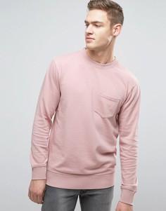 Трикотажный свитшот с круглым вырезом и карманом Jack & Jones Originals - Фиолетовый